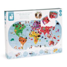 Wereldkaart puzzel voor in bad - Janod