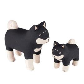 Shiba inu hondenfamilie van hout - T-lab