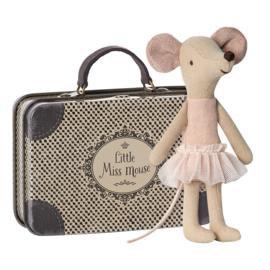 Maileg Ballerina grote zus muis in koffertje
