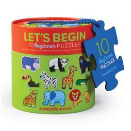 Let's begin 10 Jungle puzzels van 2 stukken - Crocodile Creek