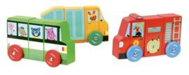Magnetische houten vrachtwagens Vilac