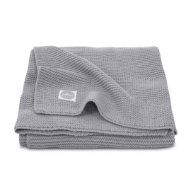 Deken Basic knit stone grey - Jollein