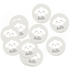 Stickers Hello (set van 10 stuks)