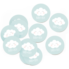 Stickers Baby boy (set van 10 stuks)