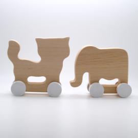 Houten olifant en kat - Pinch Toys