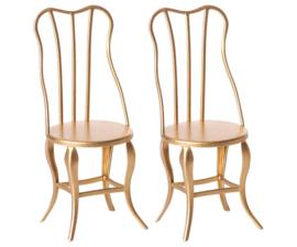 Maileg set van 2 vintage gouden stoelen