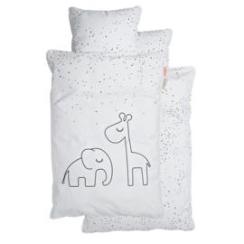Dekbedovertrek Dreamy Dots Elphee en Raffie Done by Deer 70x100 cm - wit