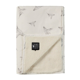 Mies en co Soft teddy blanket Little Dreams - Wieg (offwhite)