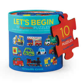 Let's begin 10 voertuig puzzels van 2 stukken - Crocodile Creek