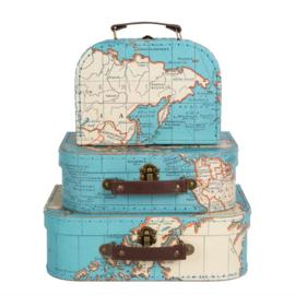 Koffertje vintage map van Sass & Belle