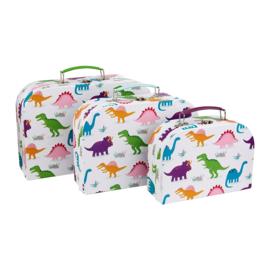 Koffertje dinosaurus van Sass & Belle