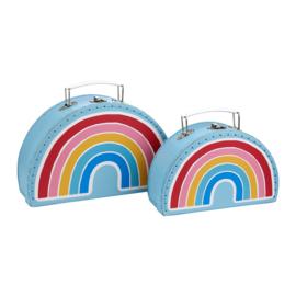 Koffertje Regenboog van Sass & Belle