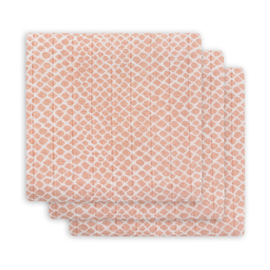 Hydrofieldoeken 70x70cm Snake pale pink (3-pak) - Jollein