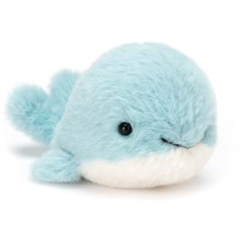 Fluffy whale knuffel - Jellycat