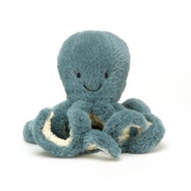 Baby Octopus Odell knuffel blauw - Jellycat