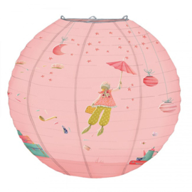 Papieren roze  lamp Moulin Roty