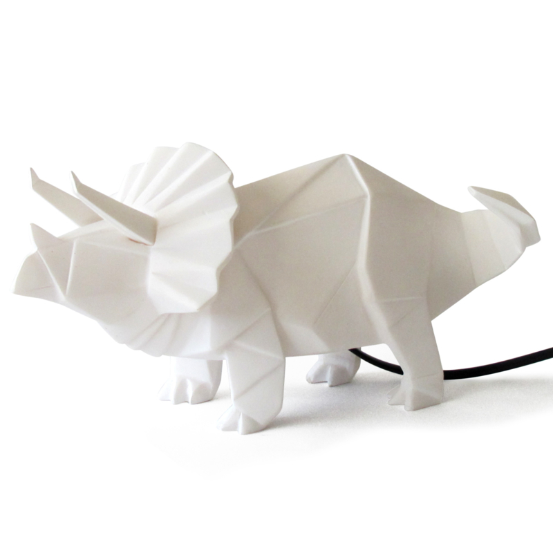 Triceratops dinosaurus origami lamp