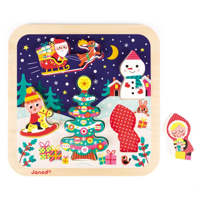 Kerstpuzzel Janod