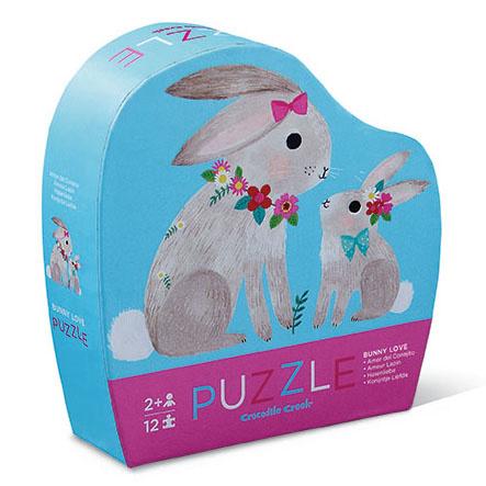 Mini Puzzel Bunny love - 12 stukjes - Crocodile Creek