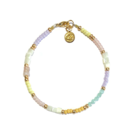Armband pastel Schelp Aquamarijn