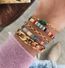 Schakel armband Chunky