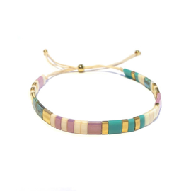 Tila Armband Turkoois Lila Goud