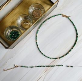 DIY Sieraden maken Ketting African jade Groen schelp