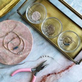 DIY Miyuki delica armbandjes maken Blauw Goud