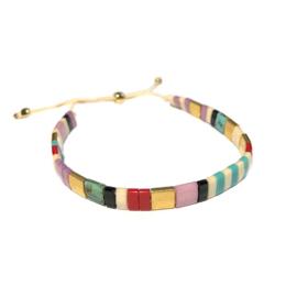 Tila Armband multicolor Rood Beige goud