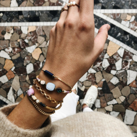 Armband Lila schelp goud