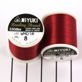 Miyuki Beading Thread 330dtex 08 Rood