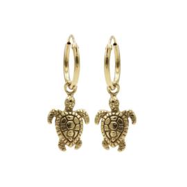 Oorbellen Turtle goud