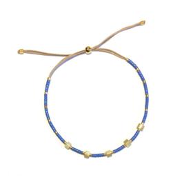 Armband Miyuki Blauw schelp