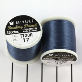 Miyuki Beading Thread 330dtex 17 Denim blauw
