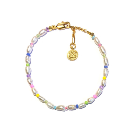 Armband zoetwaterparel pastel