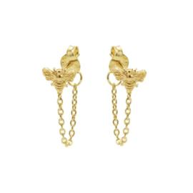 Oorbellen chain Bij goud