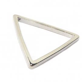 Open driehoek triangle bedel verzilverd