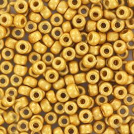 Miyuki Rocailles 8/0 Duracoat Opaque mat gold