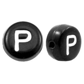 Letterkraal Rond zwart P