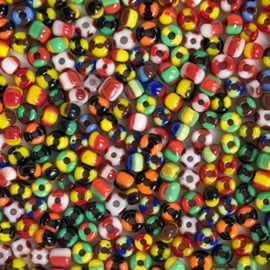 Rocailles gestreept kleurenmix Happy
