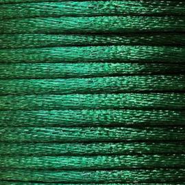 Satijnkoord 2,5mm Groen cartierknoop