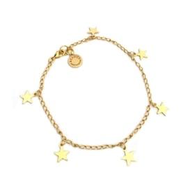 Armband goud sterretjes