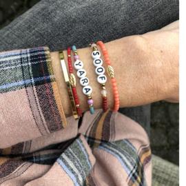 Armband Roze Bamboekoraal