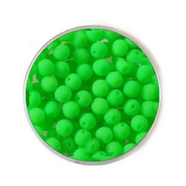 Doosje neon Groene kralen 4mm