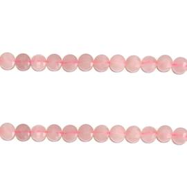 Ronde kraal rozenkwarts half edelsteen