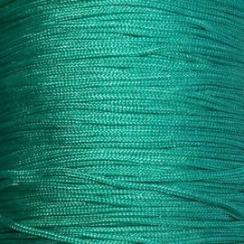 Satijnkoord Turkoois groen 0,7mm