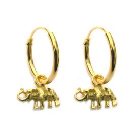 oorbellen olifantje goud