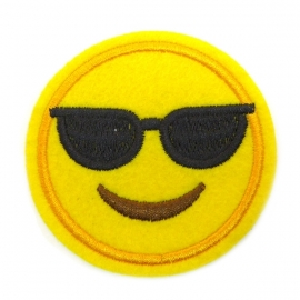 Patch - Strijkplaatje Smiley Sunglasses