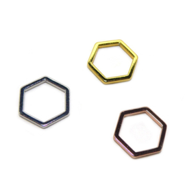 Bedel hexagon Zilver