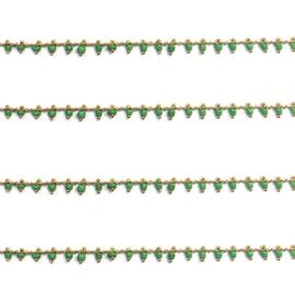 Schakel verguld goud kralen groen